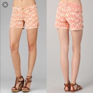 7 For all Mankind Carlie peach ikat short / NWT